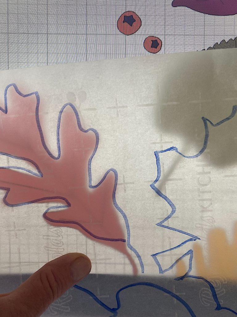Tracing the Leaf Pattern on my Computer Screen