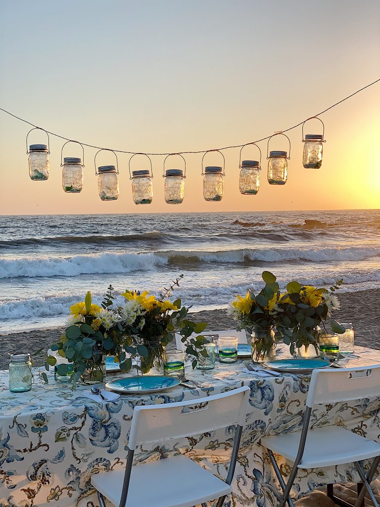 dinner on the beach