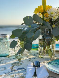 florals for sunset dinner