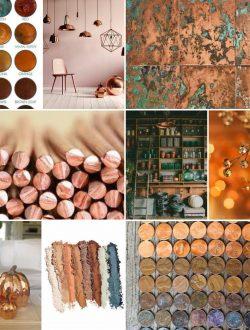 copper color inspiration board