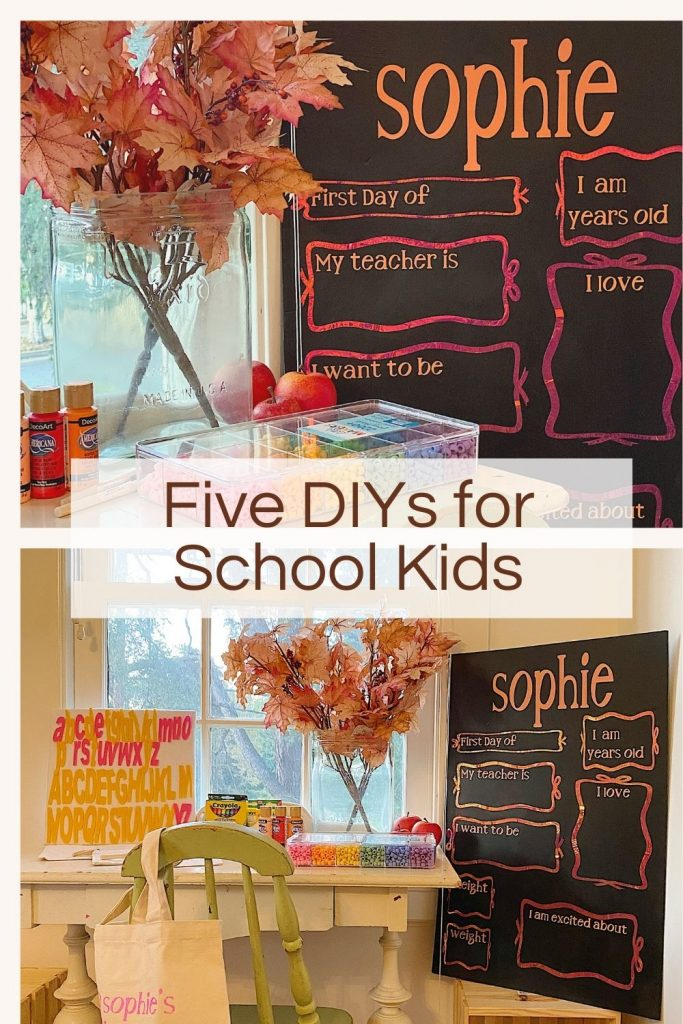 Five Diy's for School Crafts