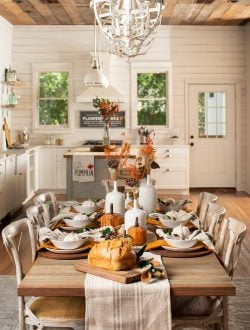 Fall Dining Table Decor Harp design 1