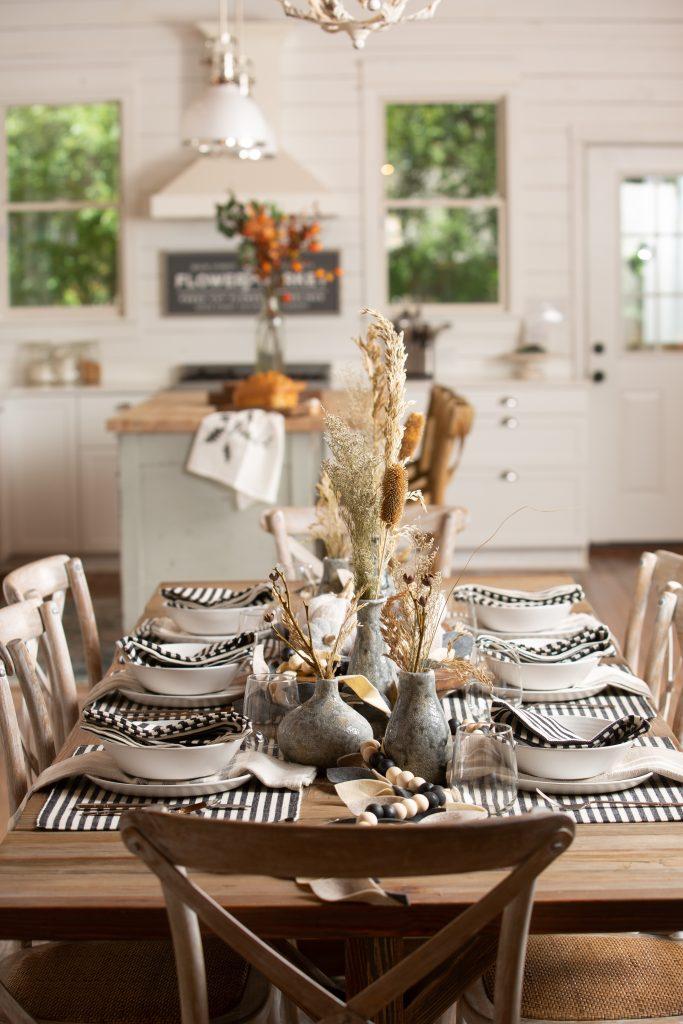 Fall Dining Table Decor Harp design 3