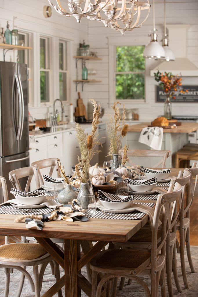 Fall Dining Table Decor Harp design 5