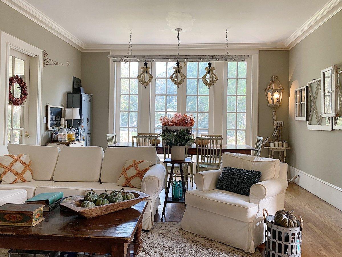 Family Room Fall Decor Ideas