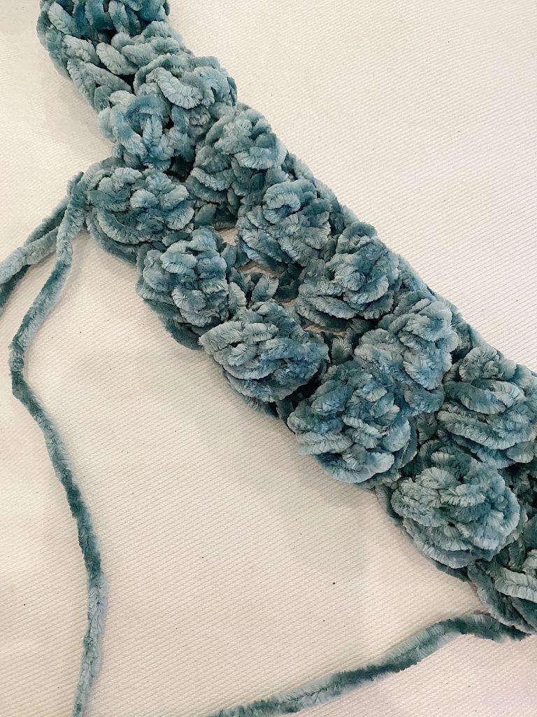 Starting the Bobble Crochet Pillow