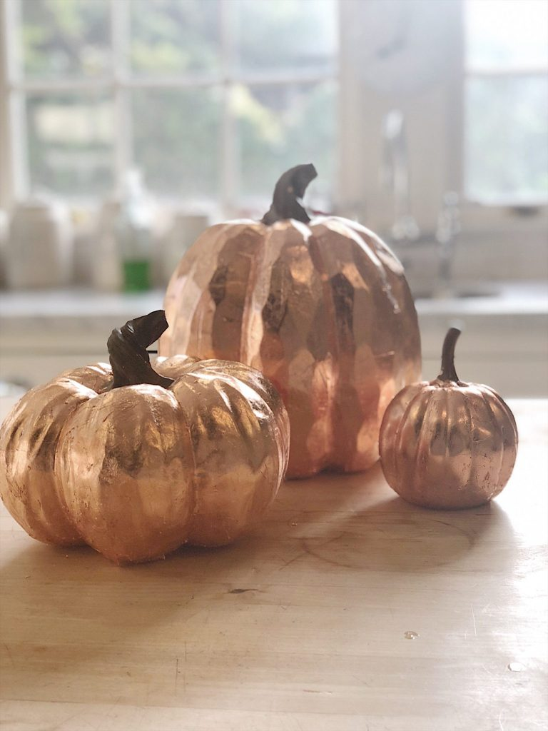 how to make copper leaf pumpkins