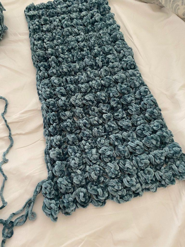 making the Bobble Crochet Pillow