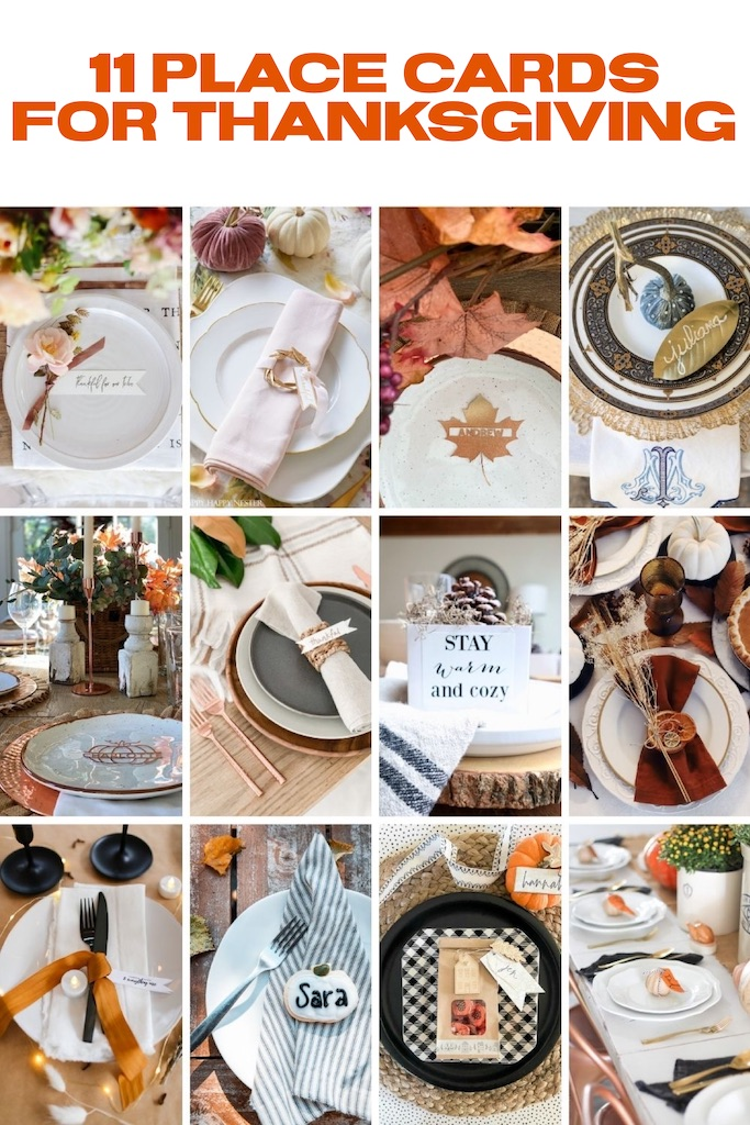 11 Place Cards for Thanksgiving