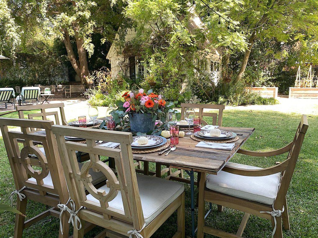 Backyard Fall Dinner