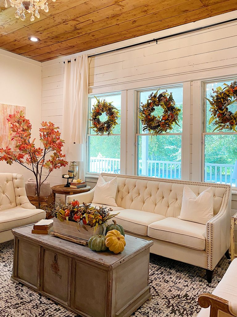 Balsam Hill Fall Wreaths in Windows