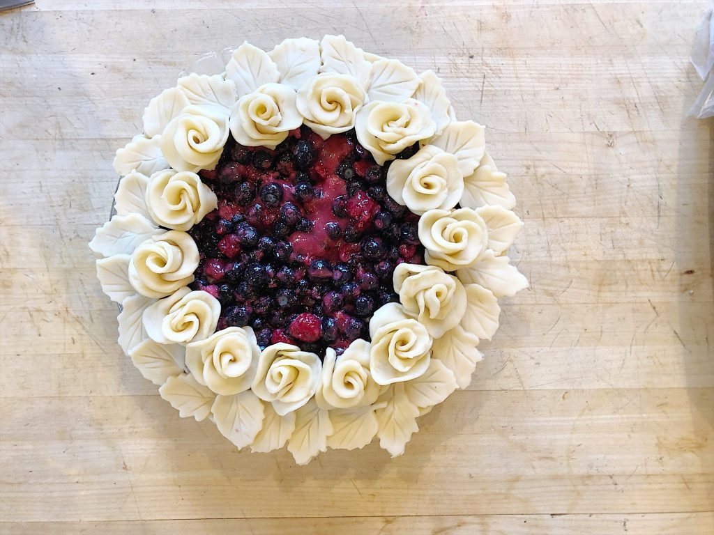 Berry Pie with Rosettes