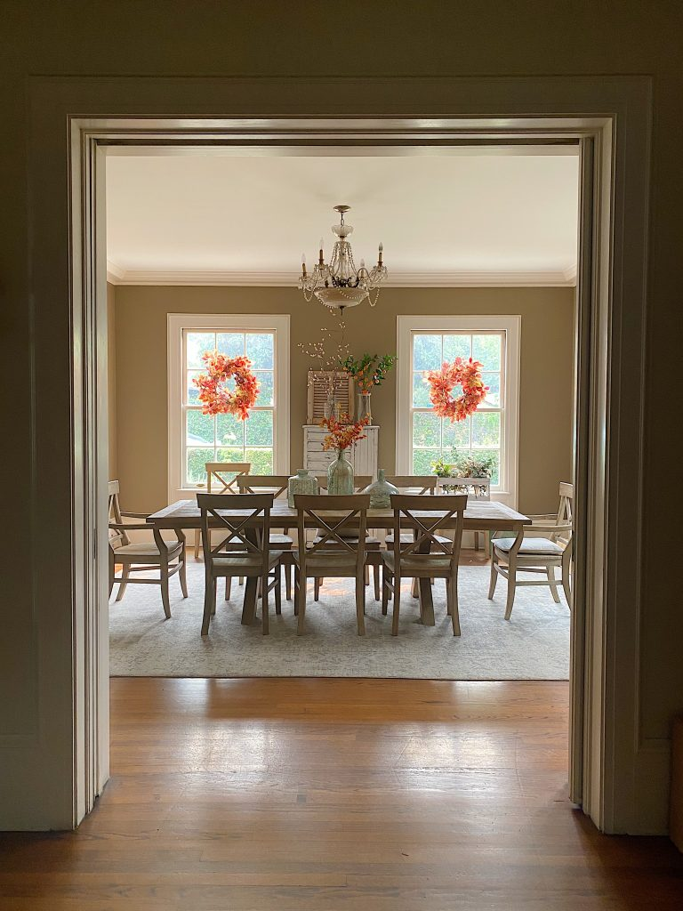 Fall Colors in the Dining Room