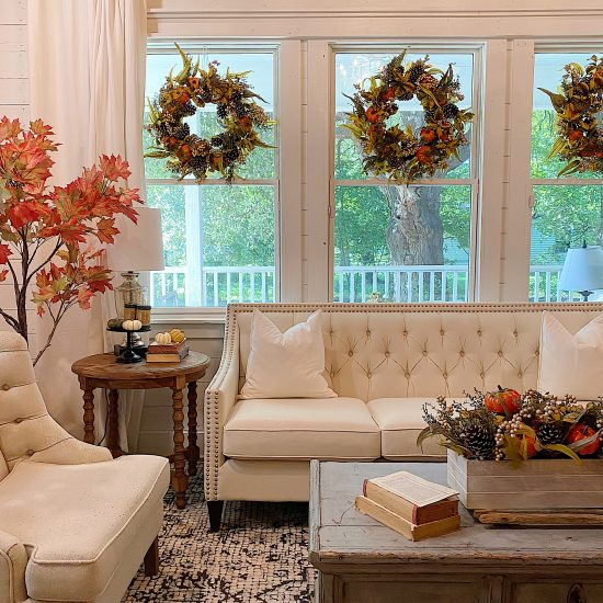 Living room fall Decor