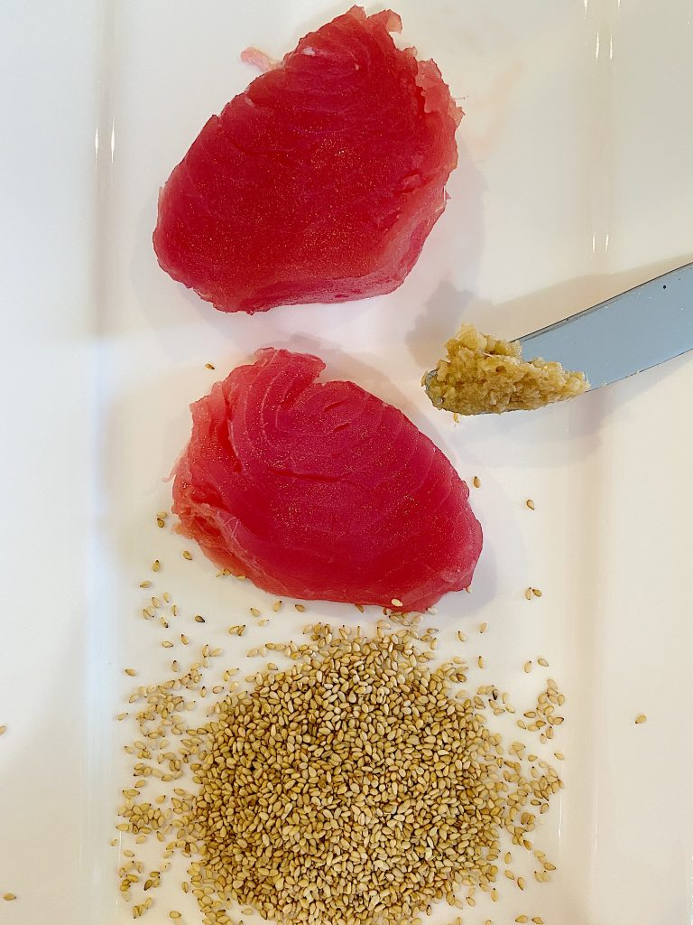 "This Seared Ahi Tuna with Maple Ginger Soy Sauce Recipe is easy to make but an impressive 'I can't believe you made this"" appetizer. It is always a favorite at our Christmas party and it's one of my favorites."