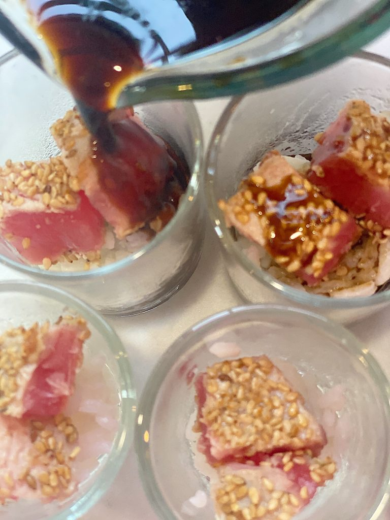 Seared Ahi Recipe Adding the Maple Soy Ginger Sauce