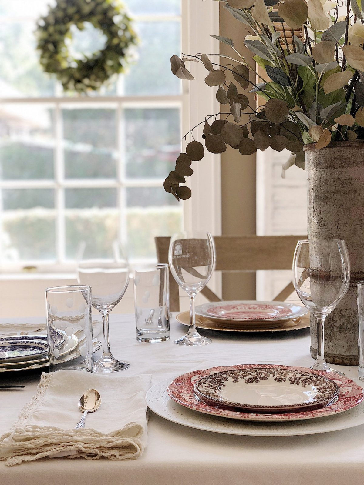 Today I am sharing how to mix new and old china patterns when you set the table.