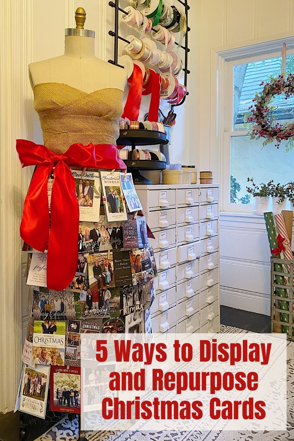 We get a lot of Christmas cards every year and I am very excited to share my ideas to display Christmas cards and use them for craft and gift ideas.