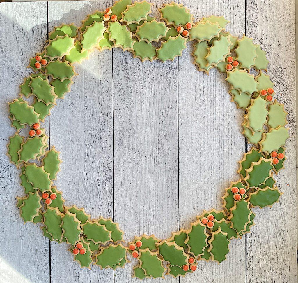 Christmas Cookie Wreath 16