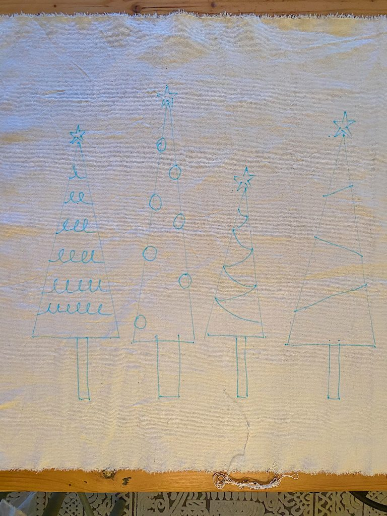 Christmas Craft DIY Draw the Trees