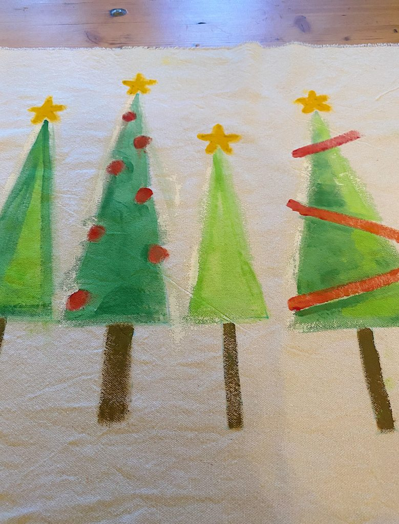 Christmas Craft DIY Painted Trees