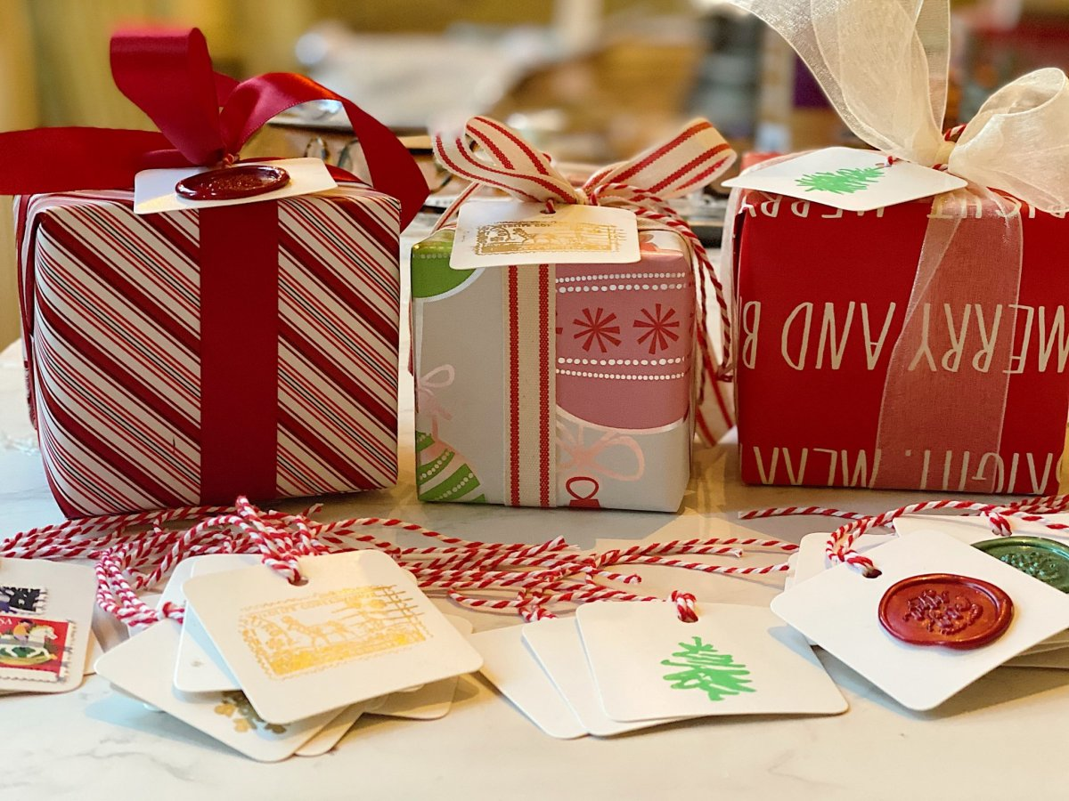Today I made some more Christmas tags for gifts. They are the perfect DIY craft project and I love how they make my wrapped Christmas gifts so much fun!