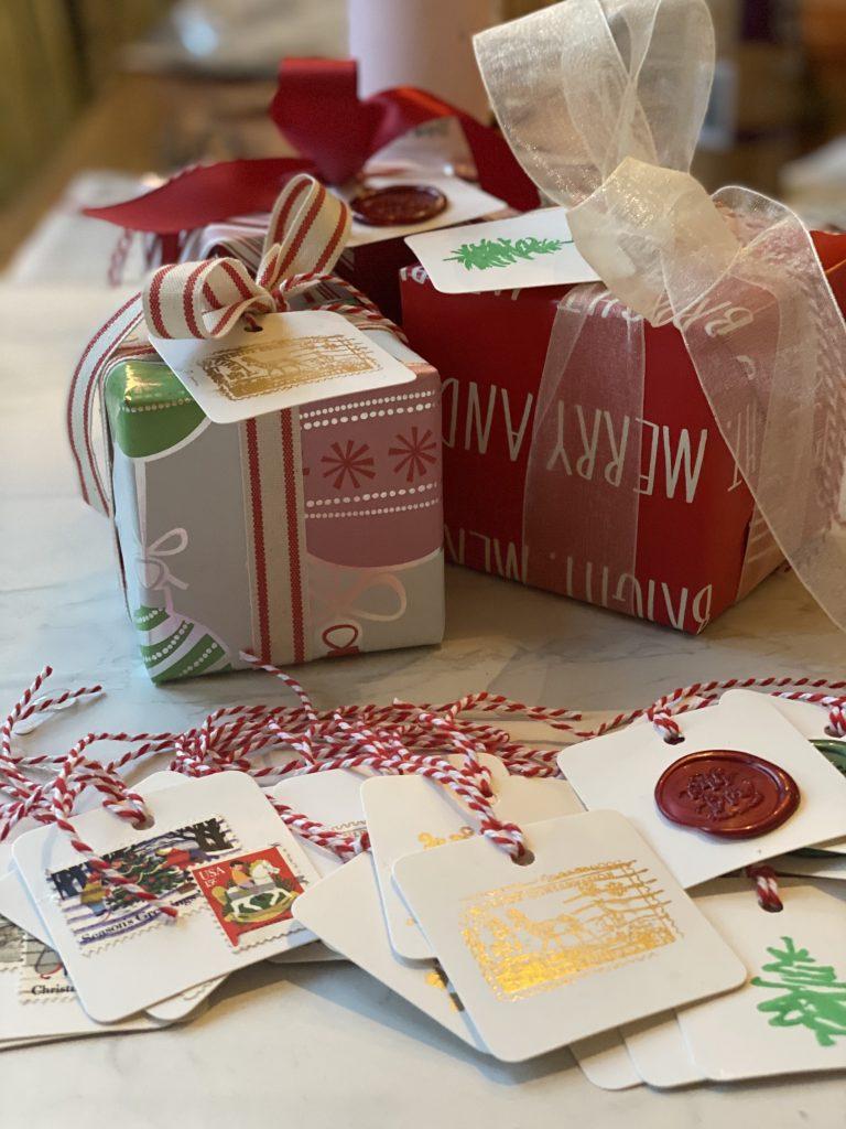 DIY Making Holiday Gift Tags