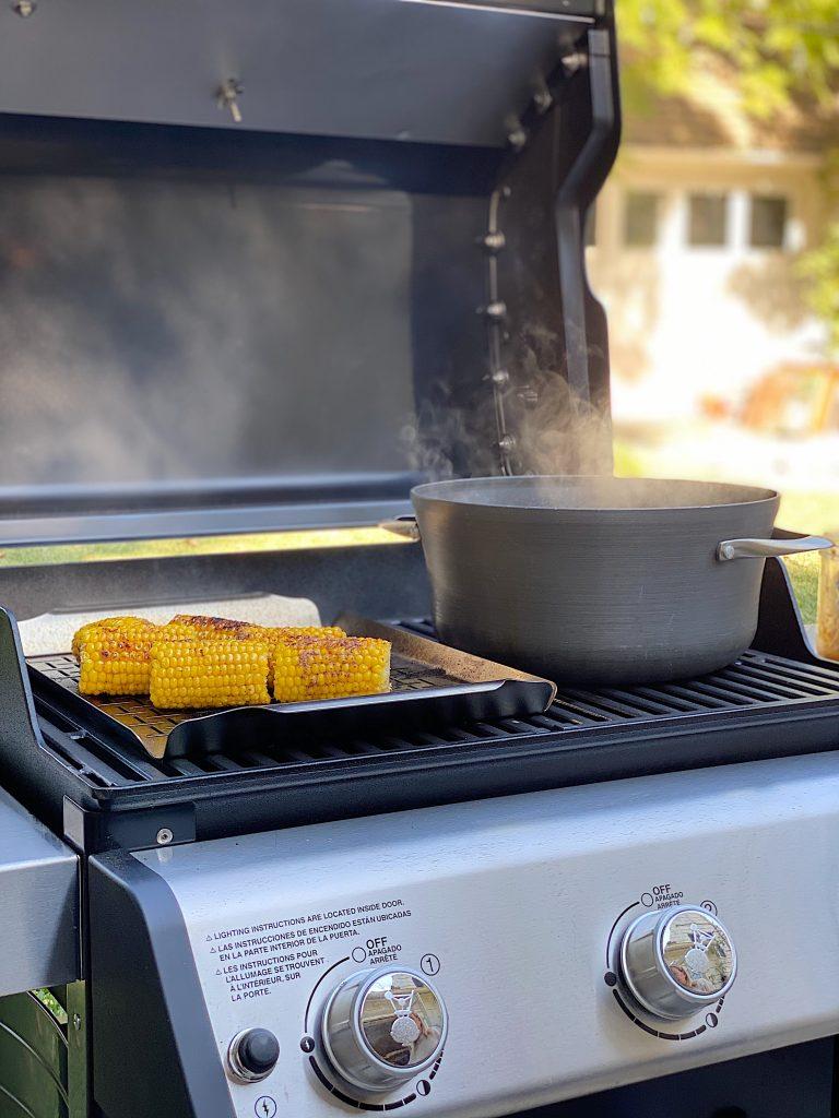 Dinner Grill Ideas Shrimp Boil and Corn