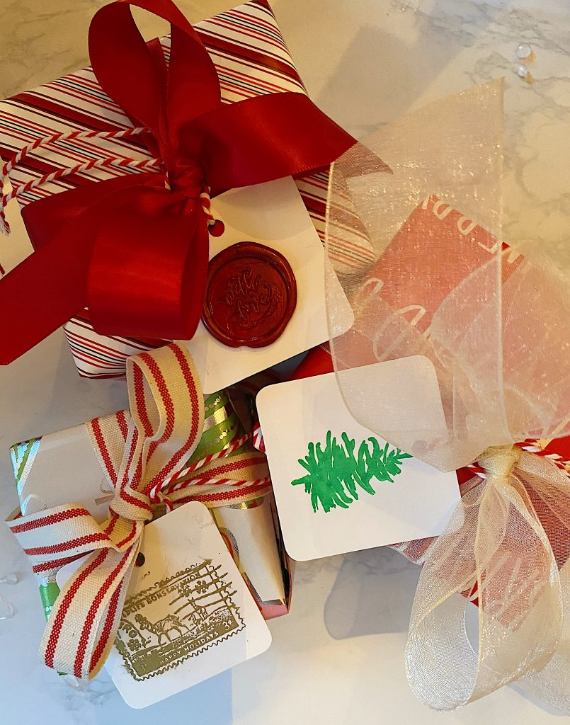 Gifts with DIY tags