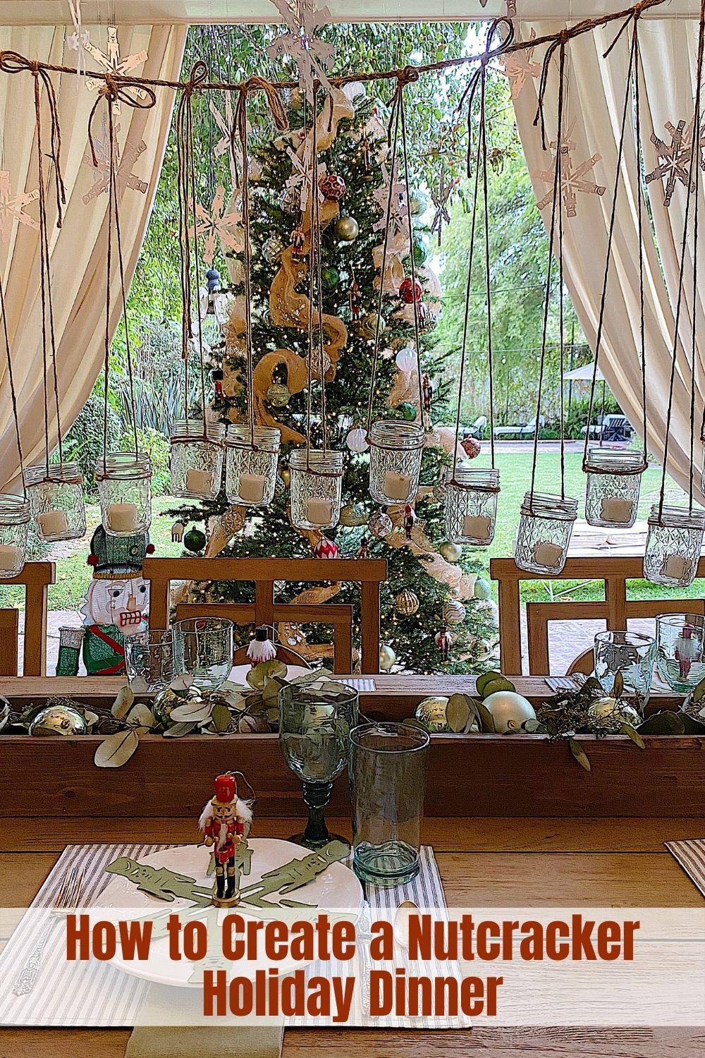 I am thrilled that my Nutcracker themed Christmas dinner is featured on the Home Depot Blog. I loved creating this dining space and hope you will enjoy my ideas for Christmas dinner.
