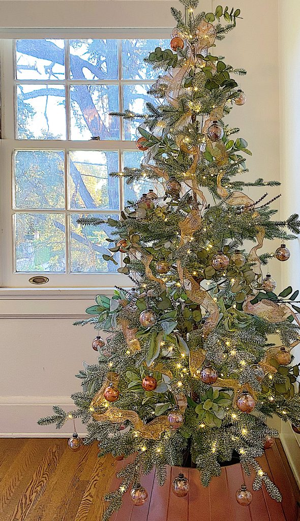 How To Style A Rose Gold Christmas Tree My 100 Year Old Home