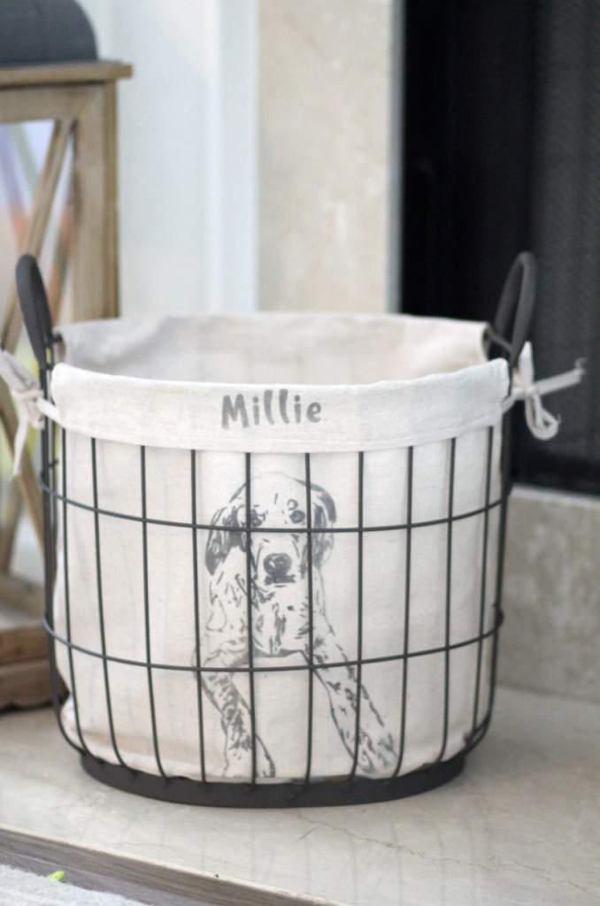 Ideas for Personalized Gifts Dog Toy Basket