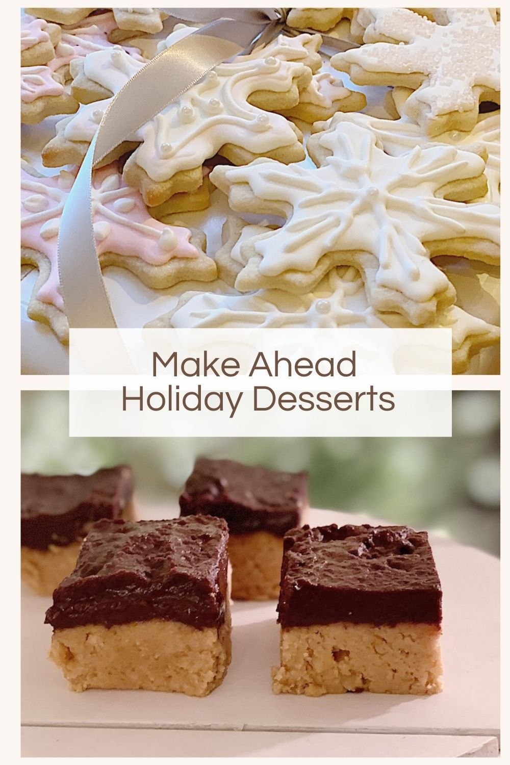 I love baking for the holidays and today I am sharing three of my favorite make-ahead holiday desserts. They are delicious.
