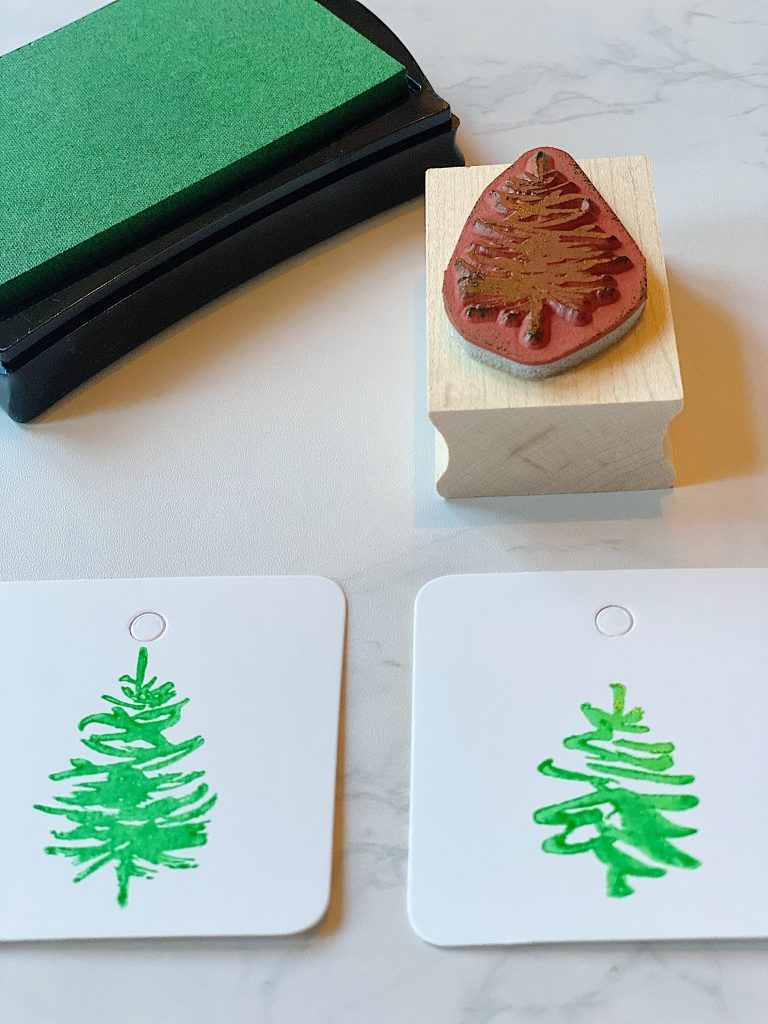 Making Gift Tags with Rubber Stamps