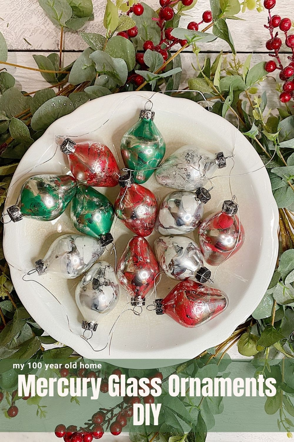 Mercury Glass Ornaments DIY