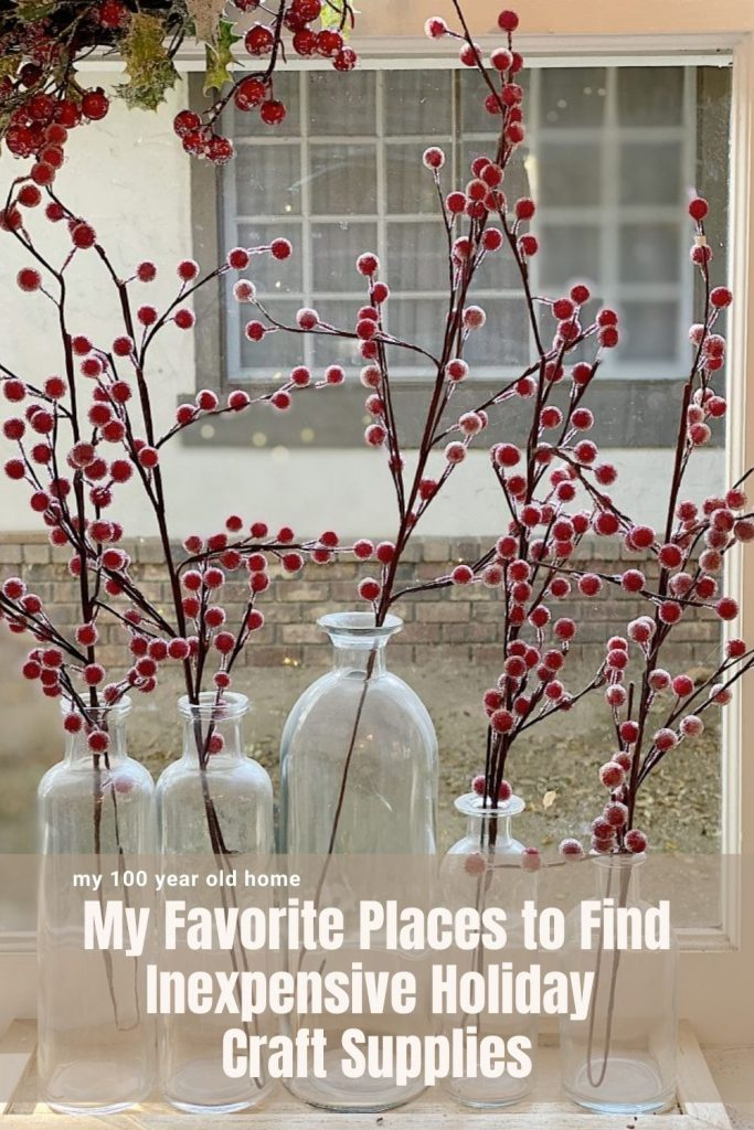 My Favorite Places to Find Inexpensive Holiday Craft Supplies