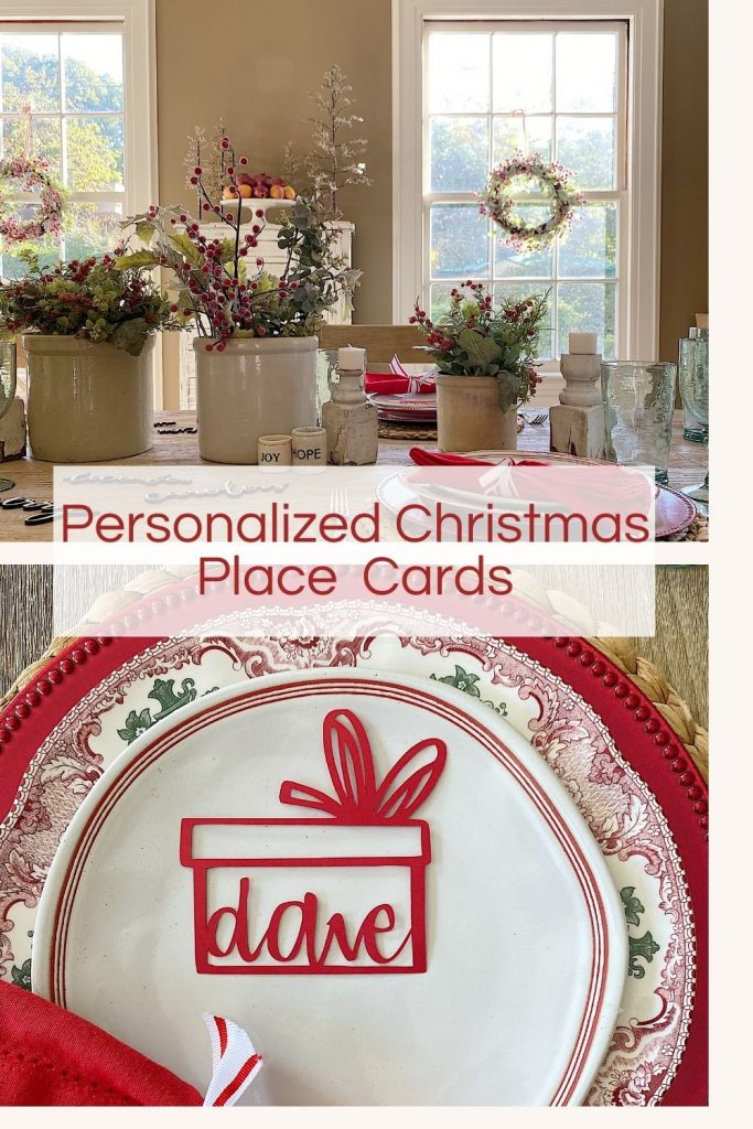 Personalized Christmas Place Cards