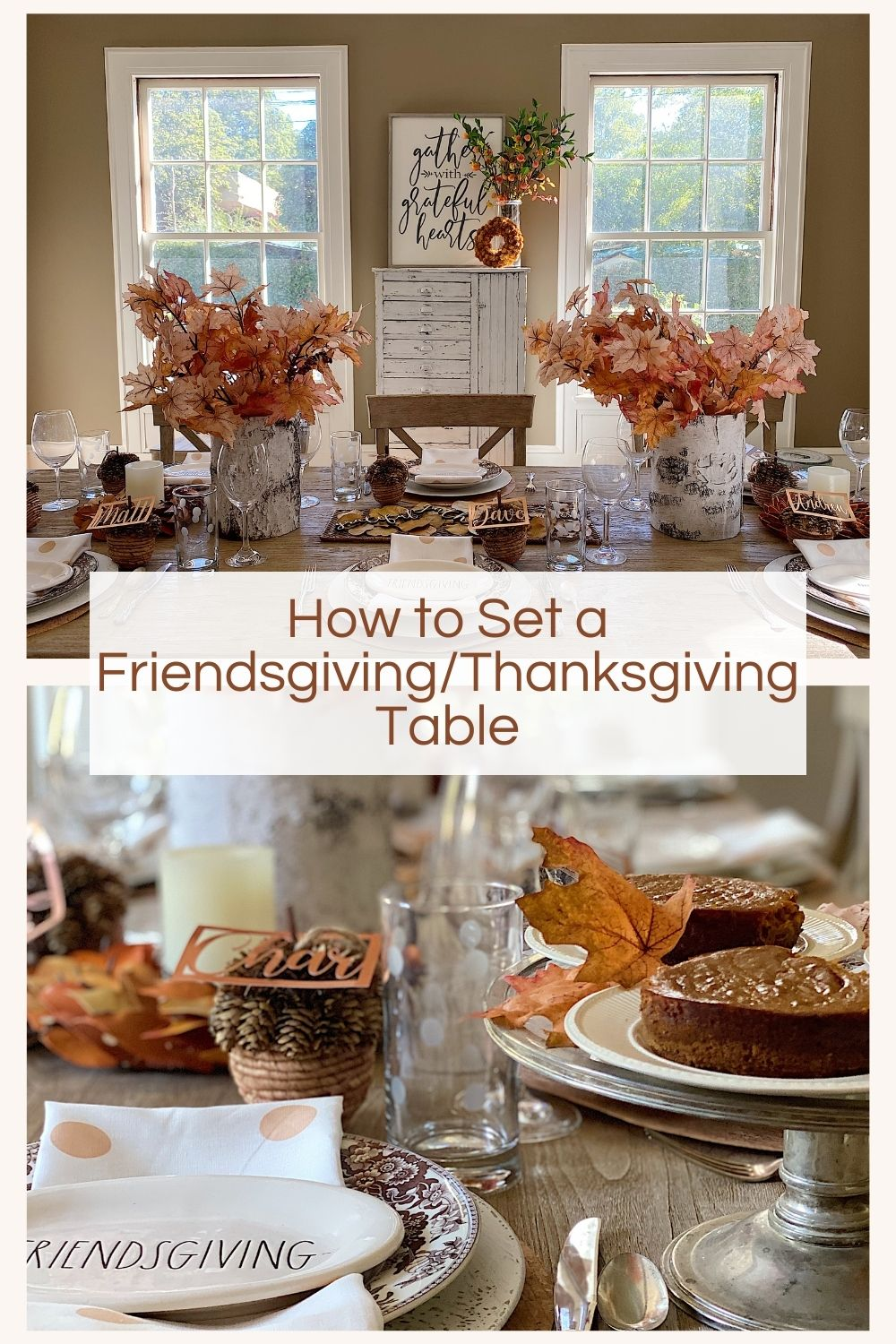 Today I am sharing some fun ideas and DIY's you can do for your Friendsgiving or Thanksgiving Dinner table.