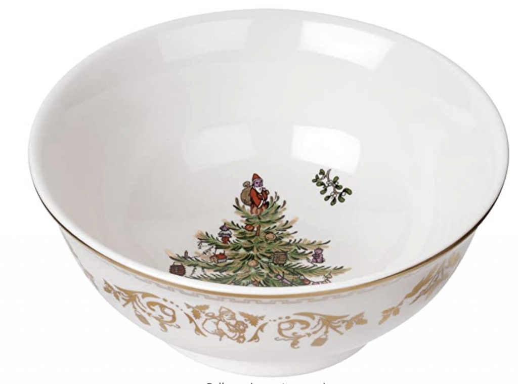 Spode Gold Christmas Tree Bowl