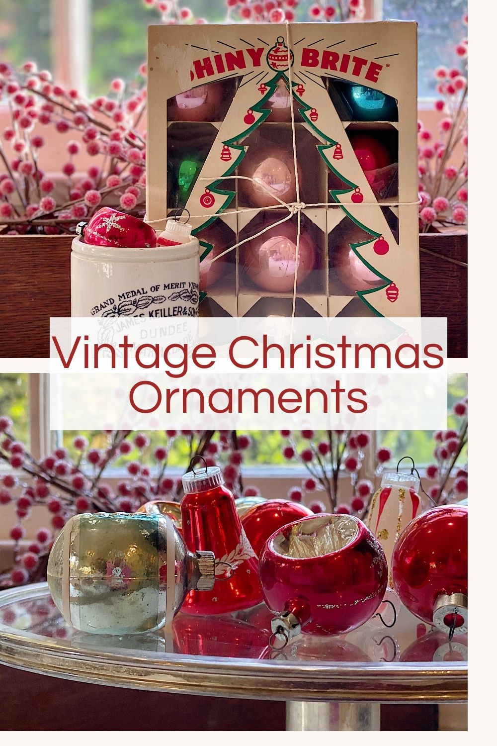 I have collected Vintage Christmas ornaments for years. I love vintage ornaments, especially the ones from Shiny Brite. Today I am sharing where you can find these ornaments too.