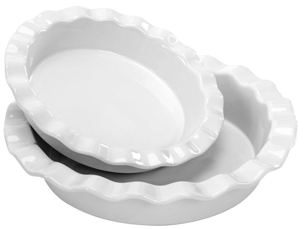 White Fluted Pie Pans
