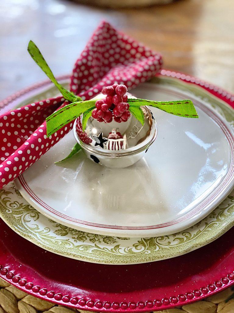Christmas Joy with Handmade Napkins and Bells