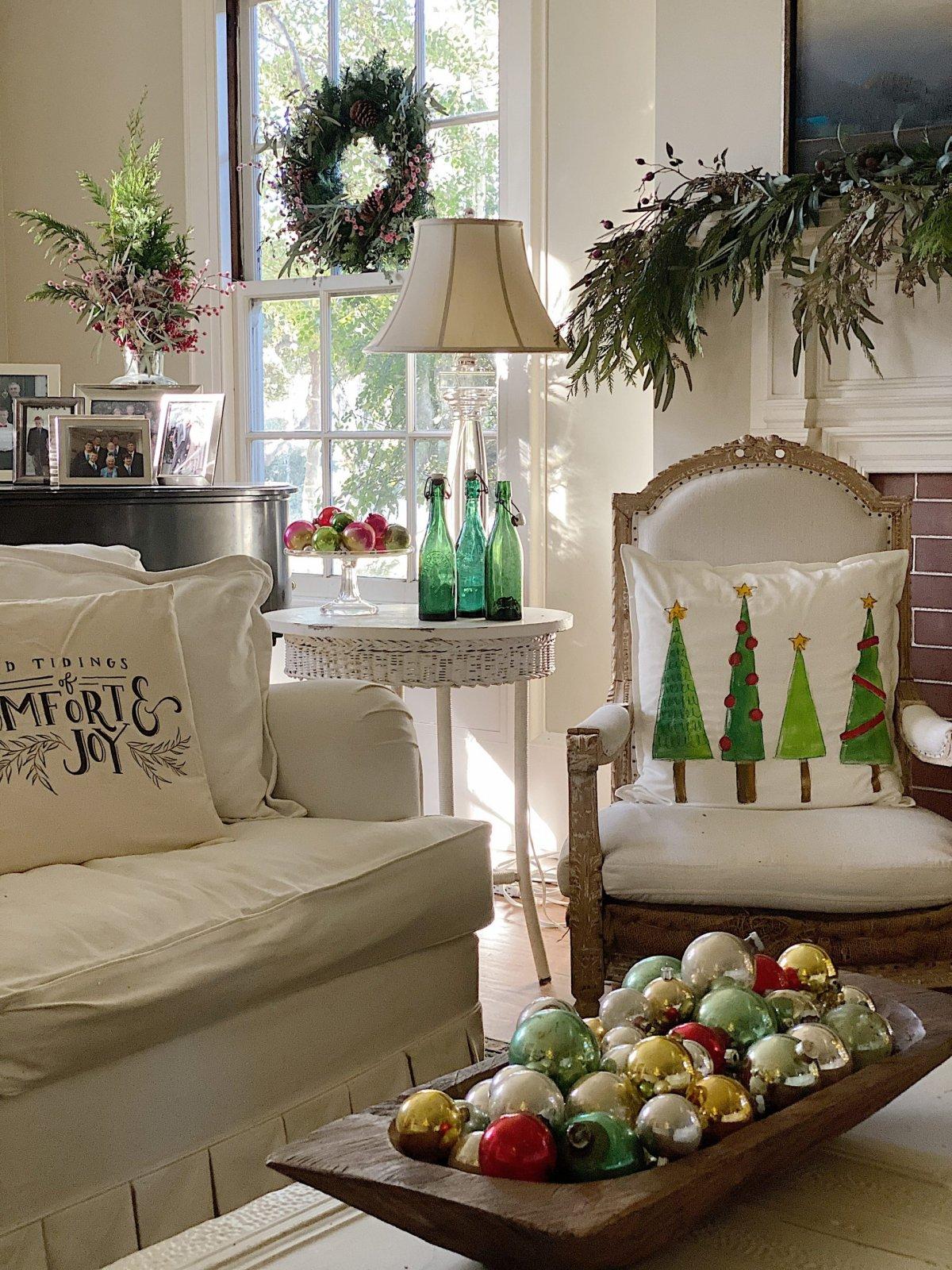Cozy Christmas Living Room