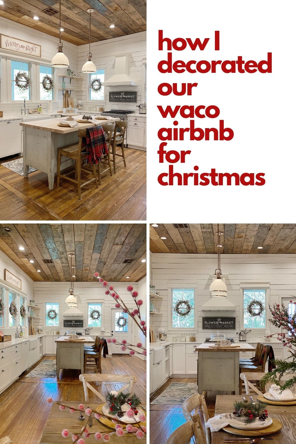 I am thrilled to share with you our plans for decorating the Waco kitchen for Christmas. It was a bit of a challenge but I love it.