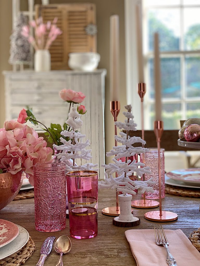 Dining Room in Pink