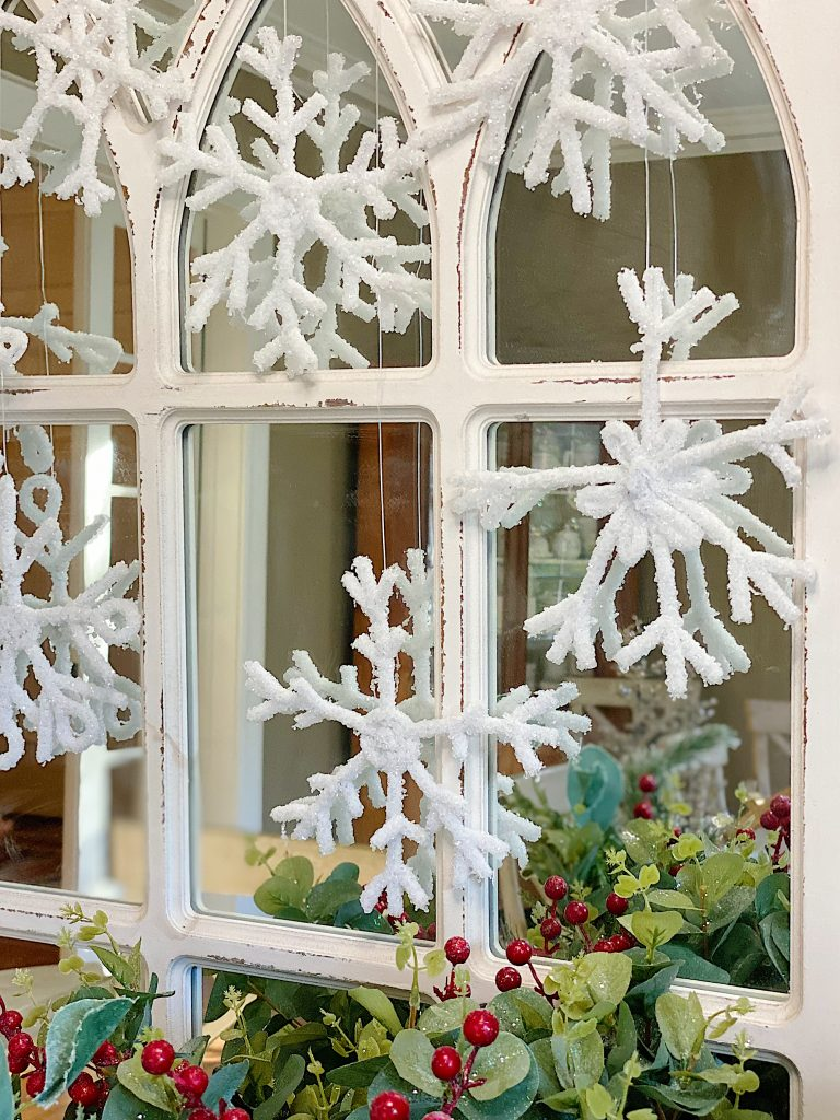 Handmade Snowflakes in a Window