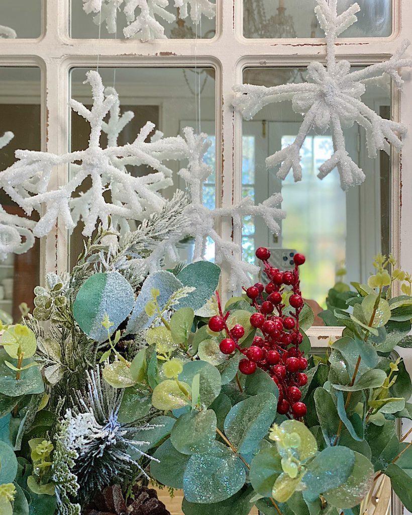 Hanging Handmade Snowflakes