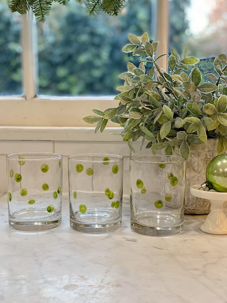 How to Paint Polka Dot Glasses