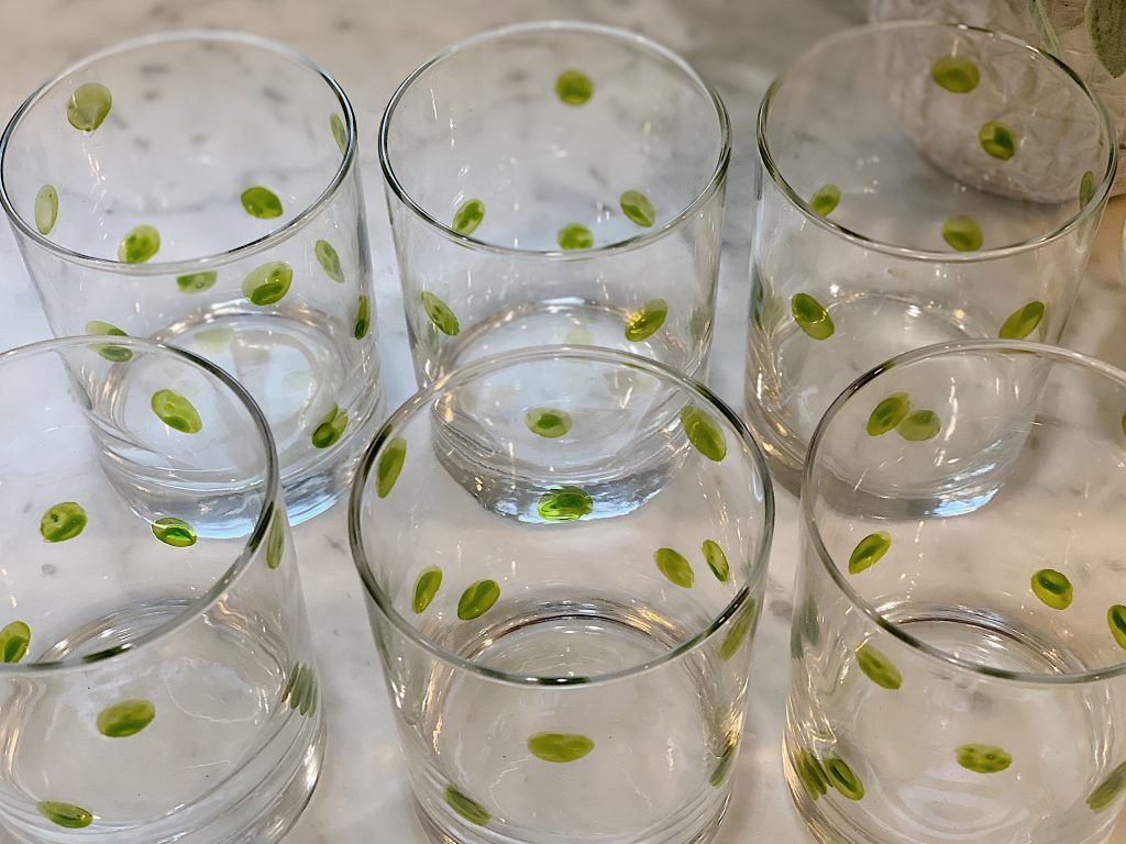 Set of Hand Painted Glasses