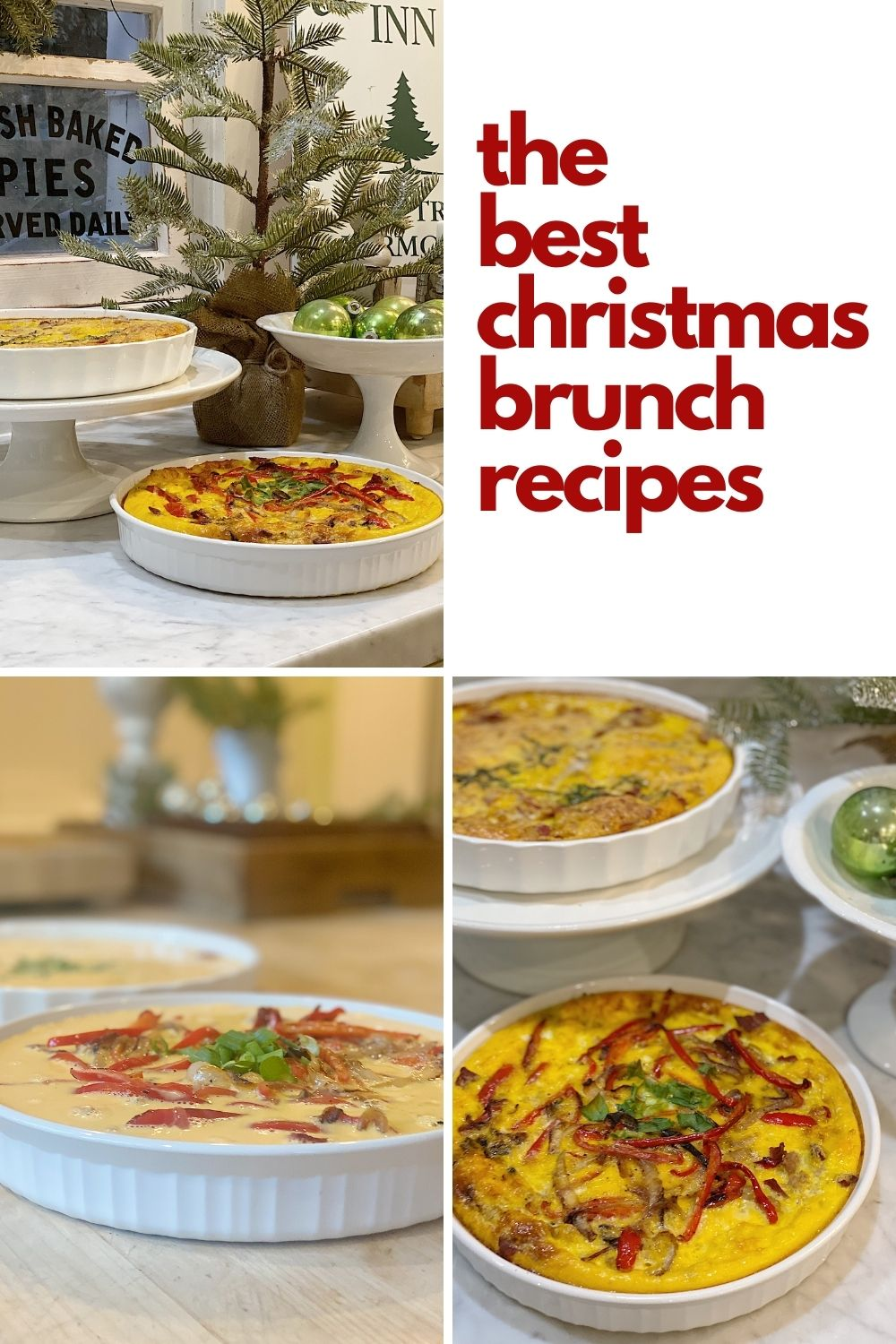 Now that our Christmas Dining Table is set, I am excited to share with you some amazing Christmas Brunch recipes for frittatas.